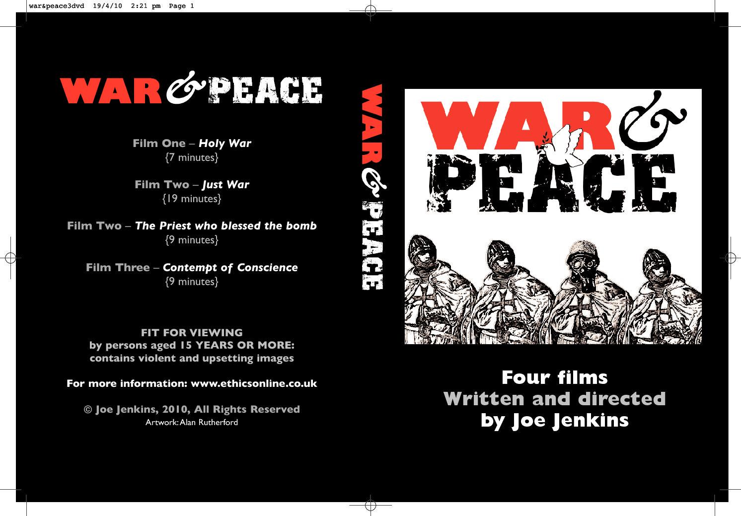war&peace Final DVD Cover (1)